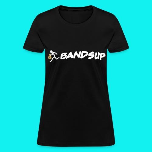(Black) Female // Running Money Man // Bands Up - Women's T-Shirt