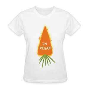 I'm Vegan (Carrot) T-Shirt - Women's T-Shirt