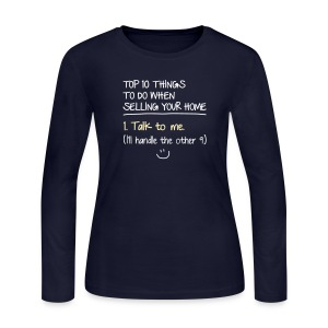 Top 10 Things to do When Selling Your Home - Women's Long Sleeve Jersey T-Shirt