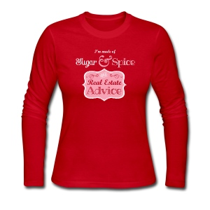 Sugar & Spice and Real Estate Advice - Women's Long Sleeve Jersey T-Shirt