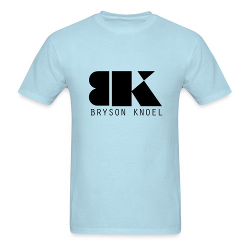 Bryson Knoel Logo Powder Blue T Shirt - Men's T-Shirt