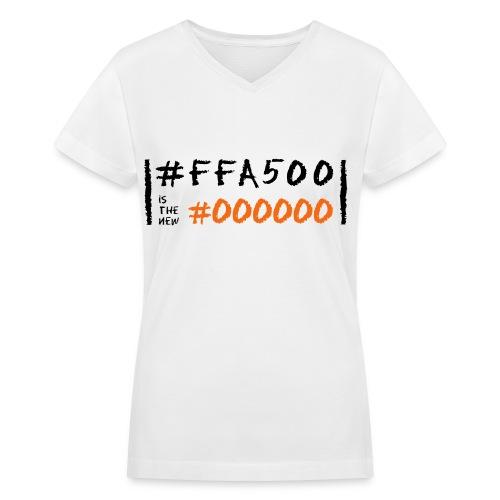 Orange is the New Black in Code - Women's V-Neck T-Shirt