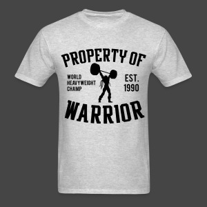 Ultimate Warrior Property of Warrior Shirt - Men's T-Shirt
