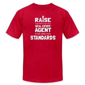 Raise Your Hand if You Love a Real Estate Agent - Men's Fine Jersey T-Shirt