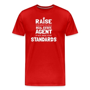 Raise Your Hand if You Love a Real Estate Agent - Men's Premium T-Shirt