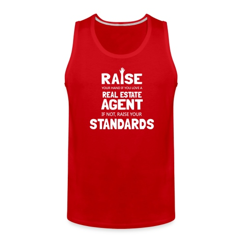 Raise Your Hand if You Love a Real Estate Agent - Men's Premium Tank