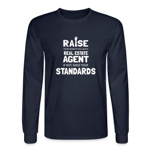 Raise Your Hand if You Love a Real Estate Agent - Men's Long Sleeve T-Shirt