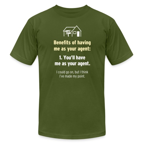 Benefits of Having Me as Your Agent - Men's Fine Jersey T-Shirt