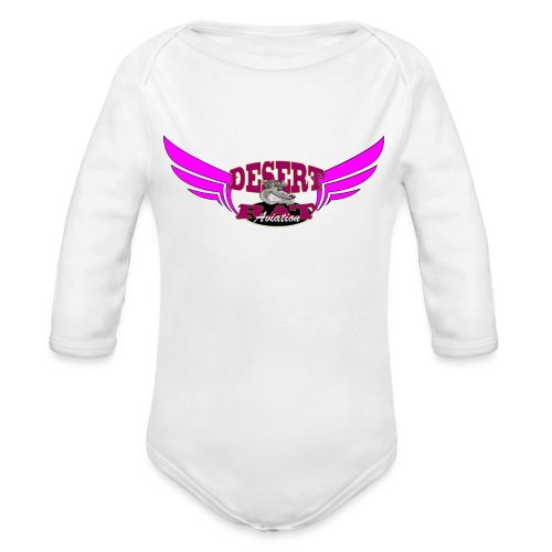 hotpink_logo - Long Sleeve Baby Bodysuit