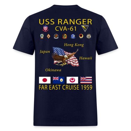 USS RANGER CVA-61 FAR EAST CRUISE 1959 CRUISE SHIRT - Men's T-Shirt