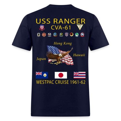 USS RANGER CVA-61 WESTPAC CRUISE 1961-62 CRUISE SHIRT - Men's T-Shirt