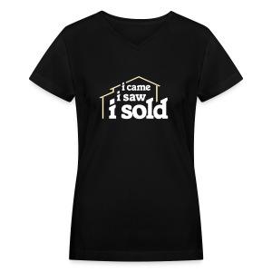 I Came I Saw I Sold - Women's V-Neck T-Shirt