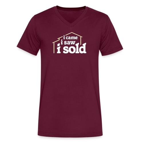 I Came I Saw I Sold - Men's V-Neck T-Shirt by Canvas