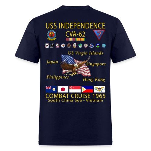 USS INDEPENDENCE 1965 CRUISE SHIRT - Men's T-Shirt