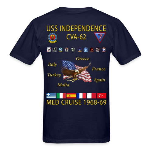 USS INDEPENDENCE 1968-69 CRUISE SHIRT - Men's T-Shirt