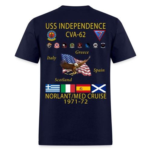 USS INDEPENDENCE 1971-72 CRUISE SHIRT - Men's T-Shirt