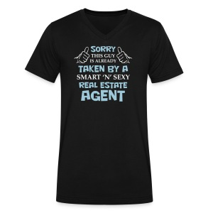 This Guy is Already Taken - Men's V-Neck T-Shirt by Canvas