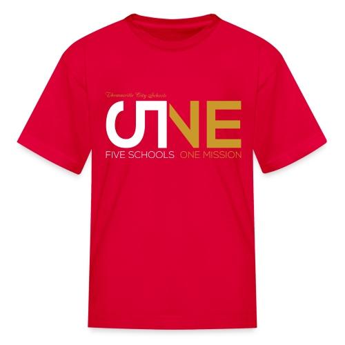 "Kids ""Five Schools-One Mission"" Shirt - Kids' T-Shirt"