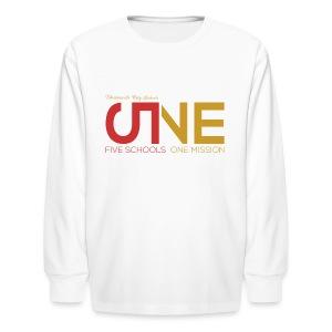 "Kids ""Five Schools-One Mission"" Long Sleeve Shirt - Kids' Long Sleeve T-Shirt"