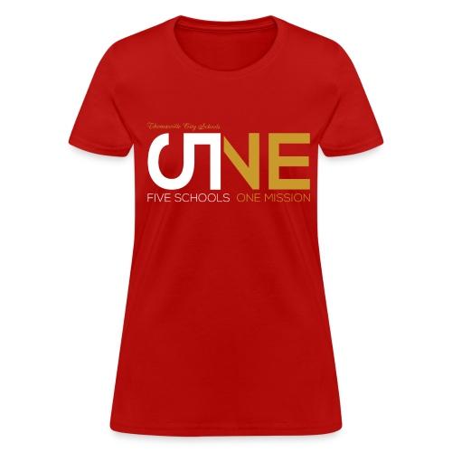 "Women's Short Sleeve ""Five Schools-One Mission"" Shirt - Women's T-Shirt"