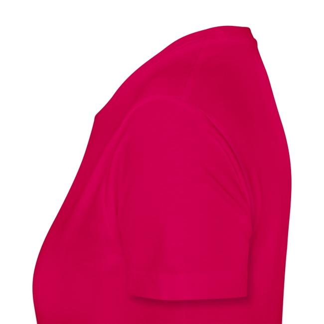 Dark Pink Inverted Logo Womens Tee