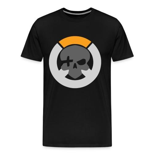 Black Inverted Logo Mens Tee - Men's Premium T-Shirt