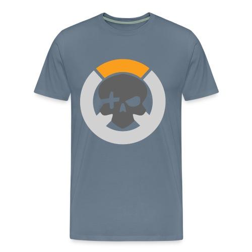 Steel Blue Inverted Logo Mens Tee - Men's Premium T-Shirt