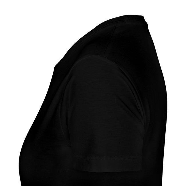 Black Inverted Logo Womens Tee
