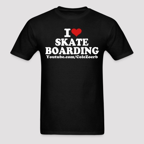 I Heart Skateboarding T-Shirt (White/Red Print) *Multiple Colorways* - Men's T-Shirt