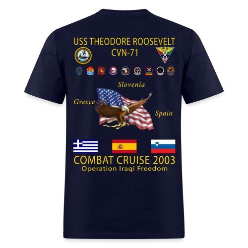 USS THEODORE ROOSEVELT 2003 COMBAT CRUISE SHIRT - Men's T-Shirt