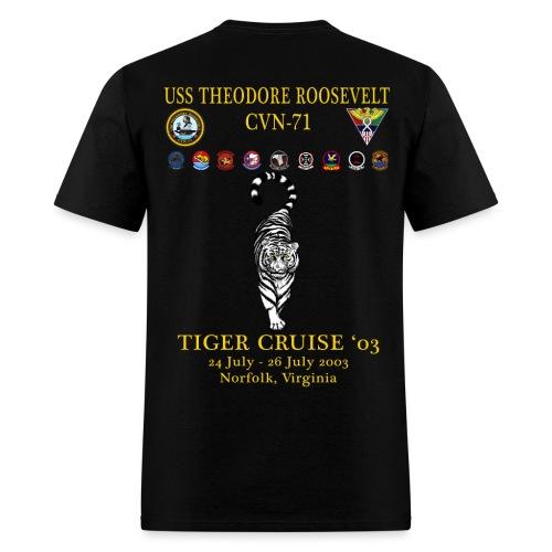 USS THEODORE ROOSEVELT 2003 TIGER CRUISE SHIRT - TIGER - Men's T-Shirt