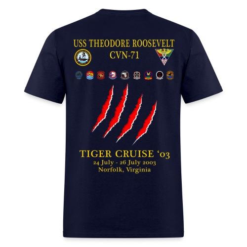 USS THEODORE ROOSEVELT 2003 TIGER CRUISE SHIRT - CLAW - Men's T-Shirt