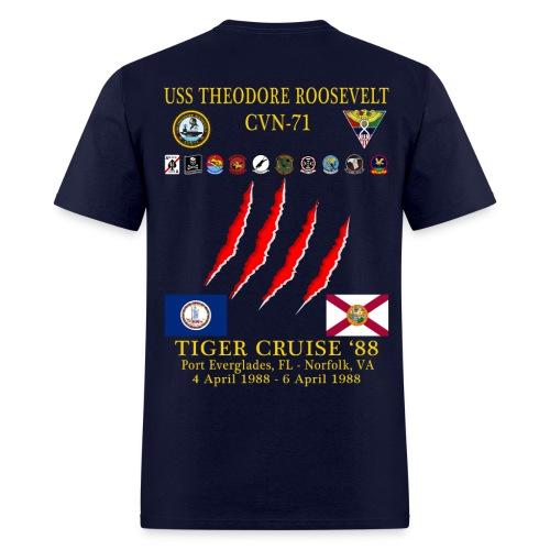 USS THEODORE ROOSEVELT 1988 TIGER CRUISE SHIRT - Men's T-Shirt