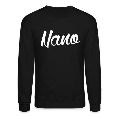 Nano Calligraphy Sweatshirt (White Text) - Crewneck Sweatshirt