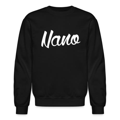 Nano Calligraphy Sweatshirt (White Text) - Crewneck Sweatshirt