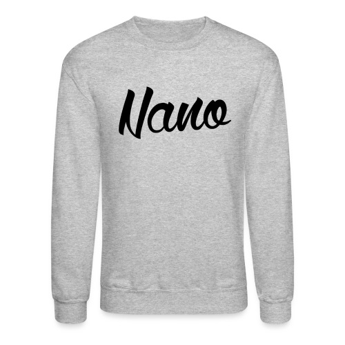 Nano Calligraphy Sweatshirt (Black Text) - Crewneck Sweatshirt