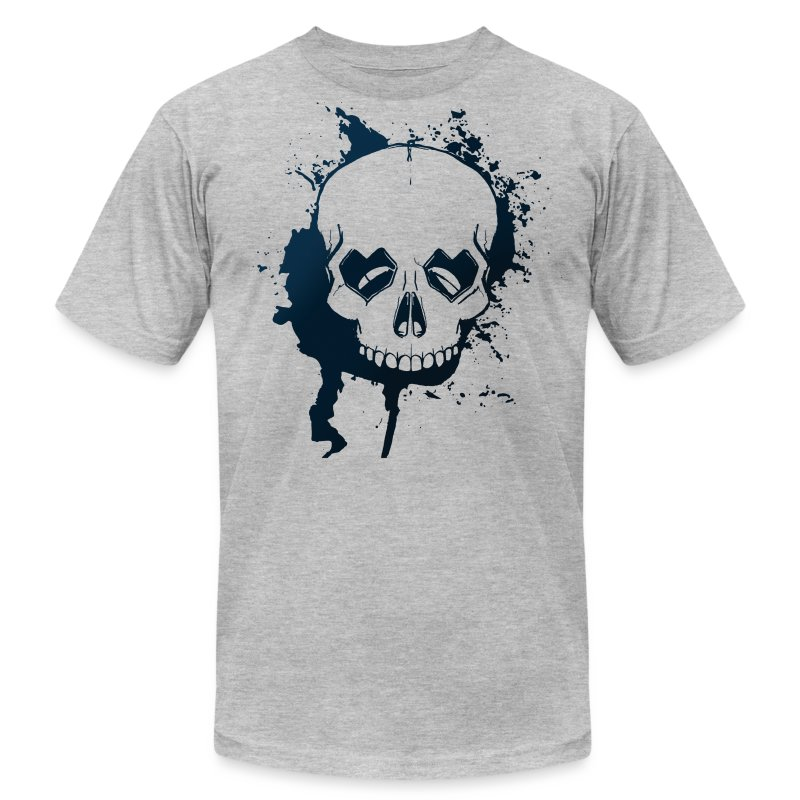 Skull Head with Loving Eyes - Men's T-Shirt by American Apparel