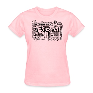 Womens Blessed Multi3 - Light - Women's T-Shirt