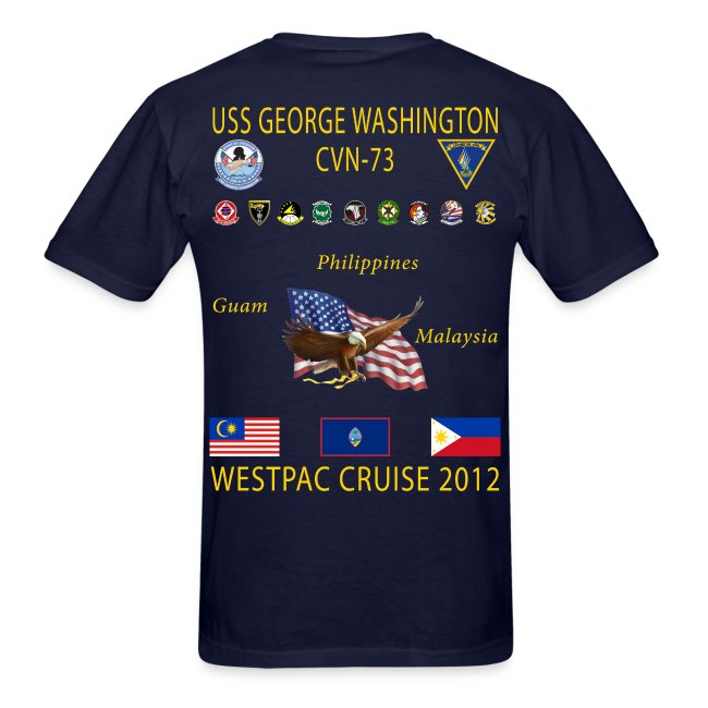 USS GEORGE WASHINGTON 2012 CRUISE SHIRT