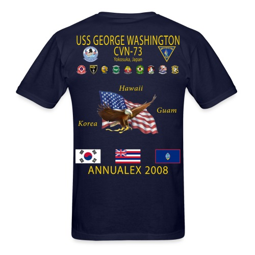 USS GEORGE WASHINGTON 2008 CRUISE SHIRT - ANNUALEX 08 - Men's T-Shirt