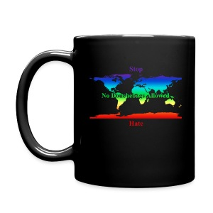 STOP HATE Rainbow Earth mug - a part of the profits will go to the SPLC thru the end of 2018 - Full Color Mug
