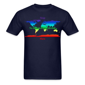 STOP HATE Rainbow Earth Tee -a part of the profits will go to the SPLC thru the end of 2018 - Men's T-Shirt