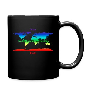 STOP HATE Rainbow Earth mug-a part of the profits will go to the SPLC thru the end of 2018 - Full Color Mug