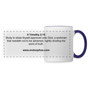 II Timothy 2:15  Rightly divide the word of truth - Panoramic Mug
