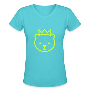 Berlin Bear - Women's V-Neck T-Shirt
