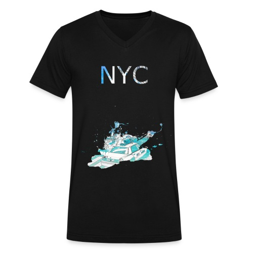 NYC Light T Black - Men's V-Neck T-Shirt by Canvas