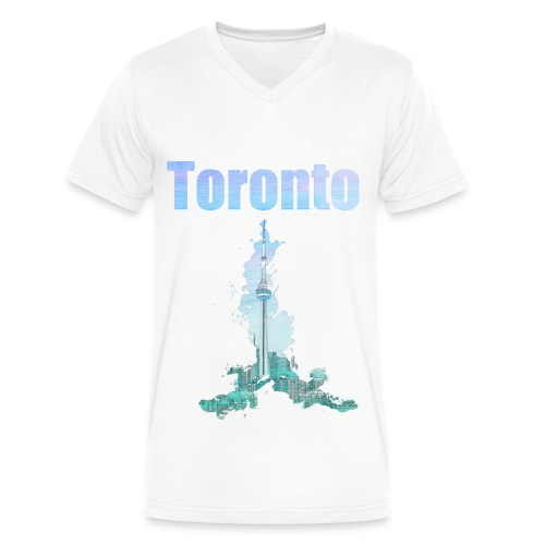 Toronto Watercolor - Men's V-Neck T-Shirt by Canvas