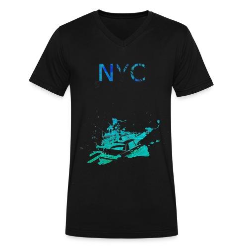 NYC Dark T Black - Men's V-Neck T-Shirt by Canvas