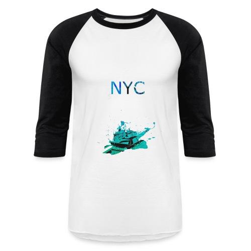 NYC Light Long T - Baseball T-Shirt