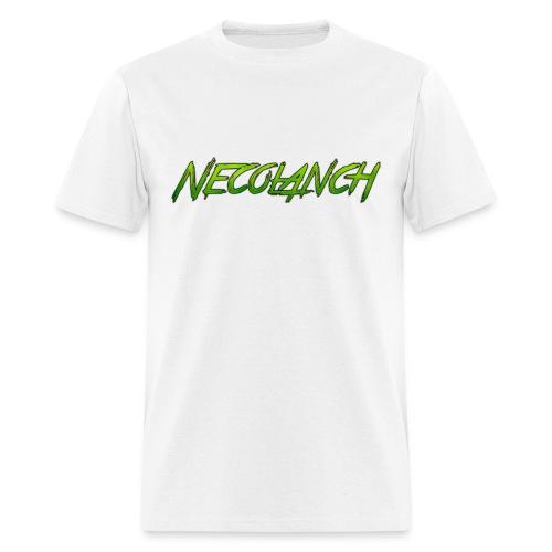 White shirt: Necolanch green - Men's T-Shirt
